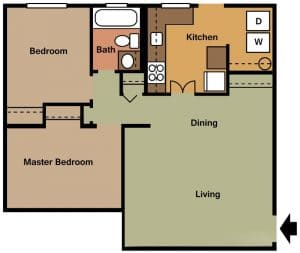 2 Bed / 1 Bath / 750 sq ft / Availability: Not Available / Security Deposit: $350 / Rent: $795