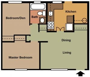 2 Bed / 1 Bath / 700 sq ft / Availability: Not Available / Security Deposit: $350 / Rent: $745
